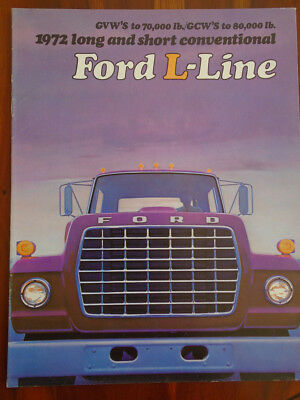 Ford USA L Line Truck brochure 1972