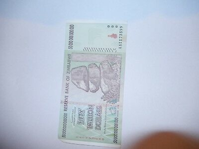 Zimbabwe 50 Trillion Dollars -in great condition