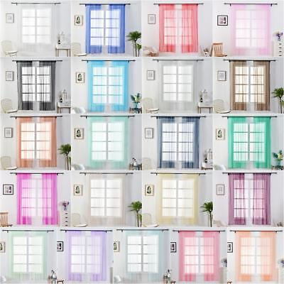 1x1.5m Blackout Window Curtains Tulle Blinds Sheer for Living Room Bedroom