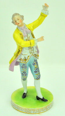 """Antique 19th Century French Porcelain Figurine of Gentleman Signed 8.75"""" NR"""