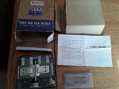 Boxed Southall 3 Way Film Splicer .super 8, Regular 8 & 16Mm Film