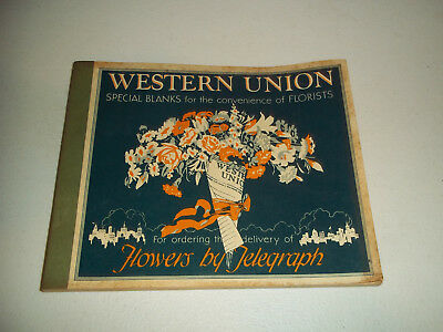 Vintage Western Union Special Blanks For Florists Telegraph Full Book