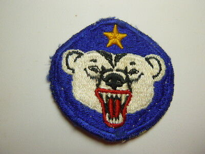 A   WW 2 U S Army Alaska Department Cut Edge Snow Back Patch Glows