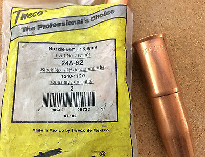 "Tweco Adjustable MIG Nozzle 24A-62 16mm 5/8"" up to 450A"