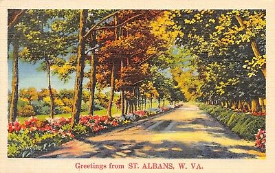St Albans West Virginia~Scenic Drive Along Kanawha River~Flowers Line Road~1939