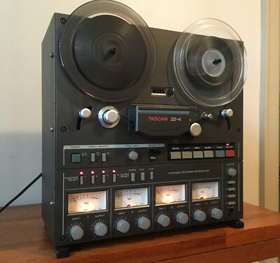 Tascam 22-4 Professional Four Track Reel to Reel Tape Deck. 15 ips. Watch Video