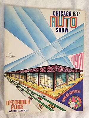1971 Chicago Auto Show 63rd Edition Official Program 2.20-28.71