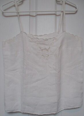 White Embroidered Camisole Top