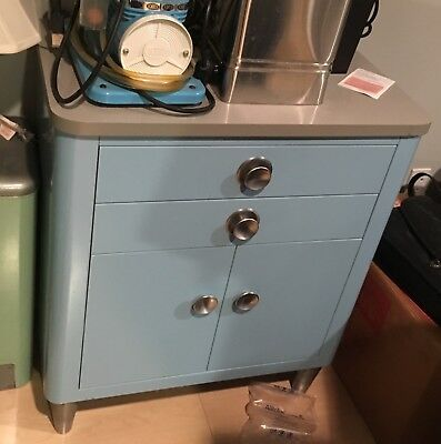 Blue medical cabinet, fair condition