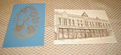 Set of 2 Jacobson's Department Store Vintage Corporate Christmas Cards