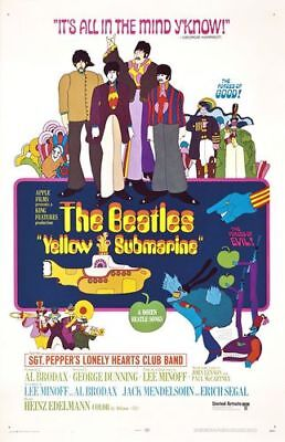 Vintage Yellow Submarine Beatles Movie Poster A4/A3/A2/A1 Print