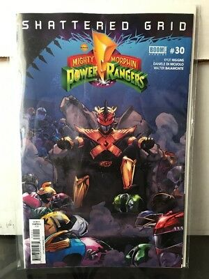 Mighty Morphin Power Rangers #30 NM 1st Print Cover Shattered Grid Comic Book