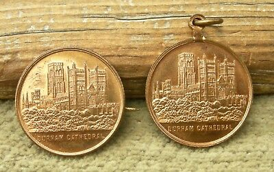 1880-90 Durham Cathedral England Uk Pictorial Set Brooch & Pendant Mint Choice!!
