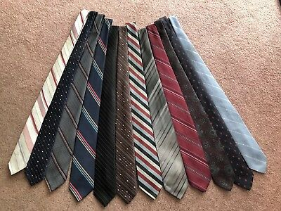 Vintage Men's Ties One Dozen Ties Lot Of 12 - Including A Wembley!