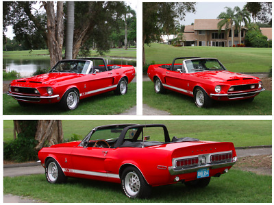 1968 Ford Mustang  1968 Ford Mustang Convertible Shelby Cobra GT 350 Tribute Rotisserie Resto AC PS