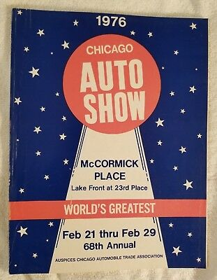 1976 Chicago Auto Show Official Program 68th Annual 2.21-2.29