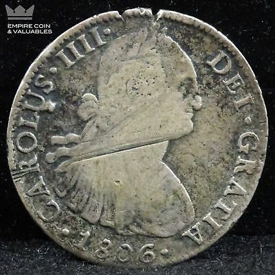 1806 Mo Mexico Charles IV Colonial Silver 8 Reales *D3