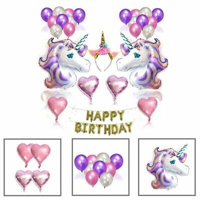 Unicorn Balloons Birthday Party Supplies for Kids Birthday Decorations US