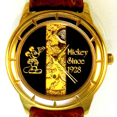 Disney Mickey Co Since 1928, Rare Fossil Collectable Lady Watch LI-2006 Just $89