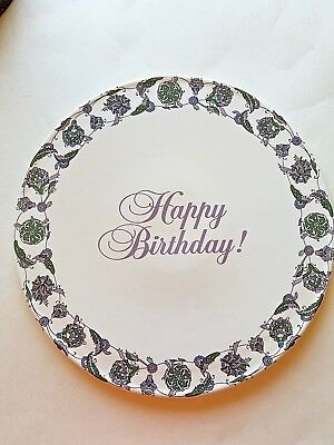 Vintage Avon Exclusive President's Club HAPPY BIRTHDAY Cake Platter EUC