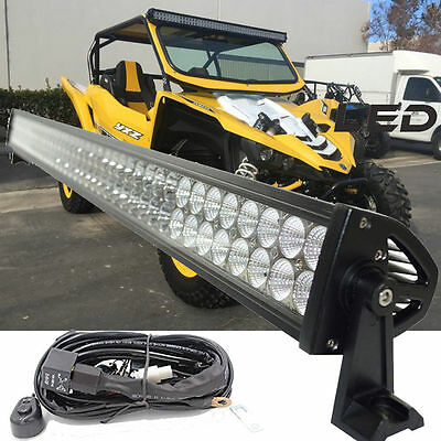 "40"" 240W Uproof Mount LED LIGHT Bar Spot Flood for 2016 2017 Yamaha YXZ1000R"