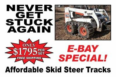 "*Over the Tire Steel Skid Steer Tracks 10"" or 12"" BEST DEAL AROUND w/FREE SHIP"