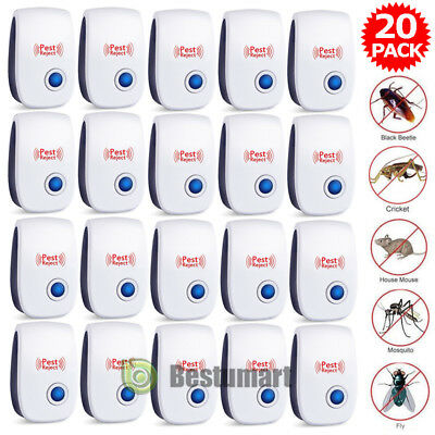 20* Pest Repeller Reject Ultrasonic Electronic Mouse Rat Mosquito Insect Control