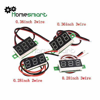 "0.28"" Mini DC 100V/2.5-30V LED 3-bits Digital Anzeige Voltmeter Panel Meter"
