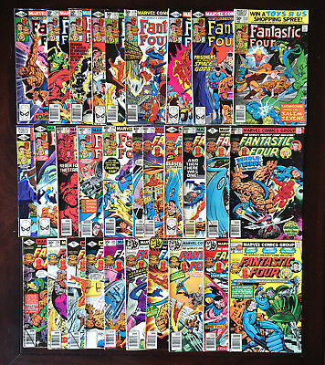 FANTASTIC FOUR Lot #200-231 - 30 Assorted Marvel Comics - John Byrne - Ungraded