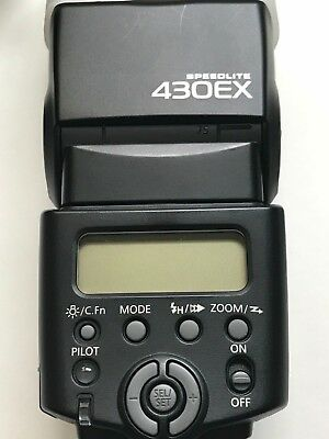 Canon Speedlite 430EX Shoe Mount Flash for Canon - USED - Great Condition w/CASE