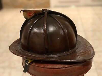 Fire Leather Helmet Cairns 5A Vintage Antique