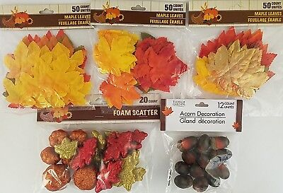 Fall Thanksgiving Harvest Scatter Maple Leafs, Pumpkins, Acorns, Select Type