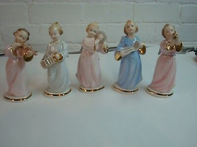 Beautiful Set of 5 Angels Made in Itlay, Numbered