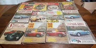 Old  Magazine Lot  Austin Healey 1St Issues  Phil Hill Racing Covers