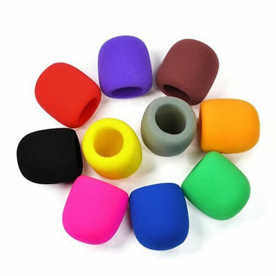 10 Colorful Sponge Foam Mic Cover for Microphone Headset Grill Windscreen