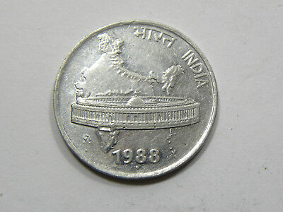50 Paise India 1988 #6873