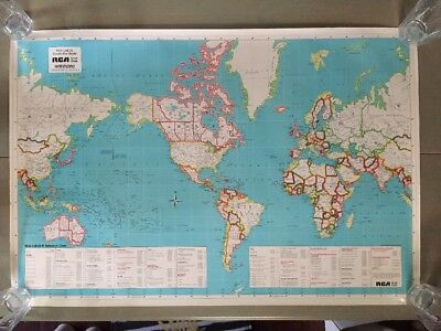 RCA CMOS Cover World Map ~RCA  Solid State ~Hammond Superior Map of World