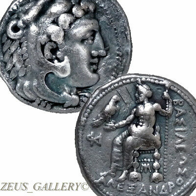 ALEXANDER THE GREAT Lifetime Tetradrachm Coin ISSOS Mint RR!Ancient Greek Silver