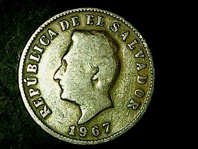 El Salvador 5 Centavos 1967 Copper-Nickel NICE COIN++++++++++++++++++++++++++