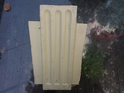 ART DECO Antique wooden architectural salvage bookcase trim cap