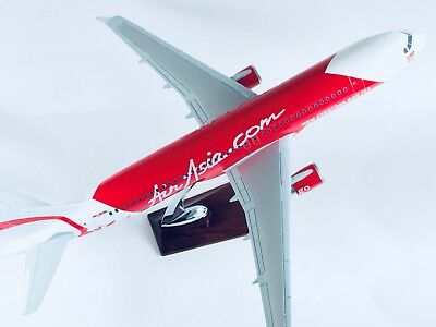 AIR ASIA A320 AIR LARGE PLANE MODEL  WITH STAND APX 47cm SOLID RESIN