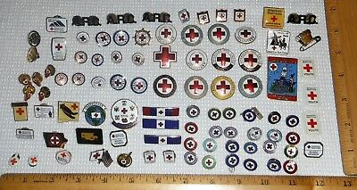 Just Under 100 ARC/American Red Cross Pin/Etc. Collection/40 Year Pin/Volunteer+