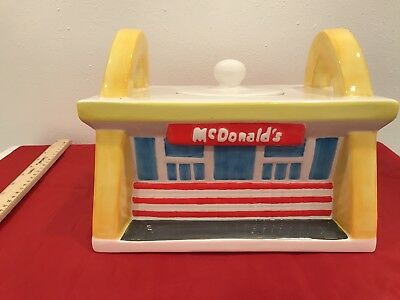 McDonalds Cookie Jar Golden Arches Treasure Craft 1997 Diner Restaurant