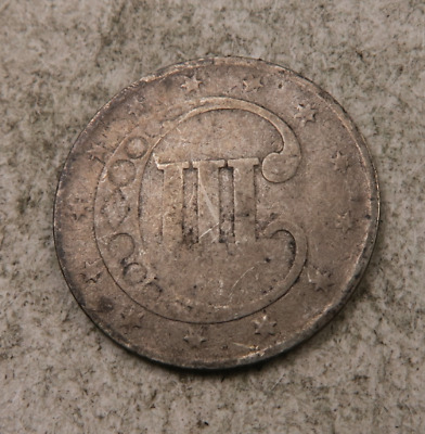 1852 Silver Three Cent Coin (3 Cent) // (ST905)