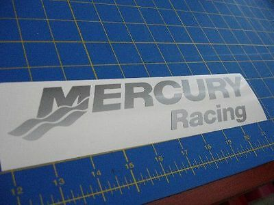 "Mercury Racing Sticker 24"" X 5.2"" DECAL SILVER Race Boat Outboard ""You get 2!"""