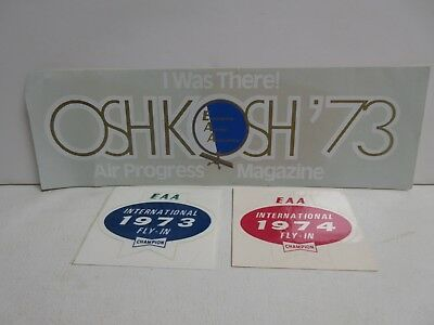 Lot of 3 Oshkosh International Fly-In Wisconsin, 1973-74