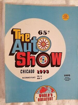 1973 Chicago Auto Show 65th Edition Official Program 2.24-3.4