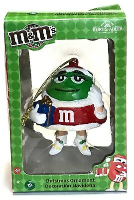 Kurt S Adler Green M&M Christmas Tree Ornament holiday decoration