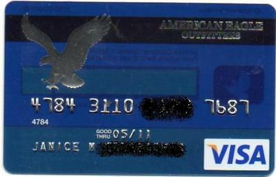 AMERICAN EAGLE OUTFITTERS VISA CARD expired in 2011 no value or credit on card