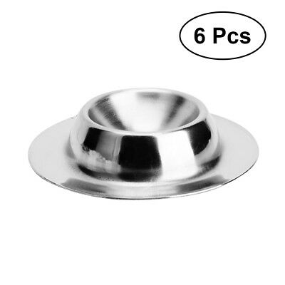 New 6 Pcs Stainless Steel Boiled Egg Cup Egg Cups Egg Holder Boiled Egg Stand